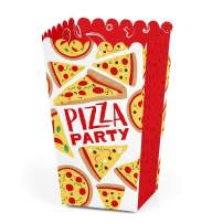 Pizza Party Time- Baby Shower or Birthday Party Favor Popcorn Treat Boxes - Set of 12