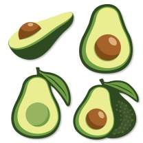 Big Dot of Happiness Hello Avocado - DIY Shaped Fiesta Party Cut-Outs - 24 Count