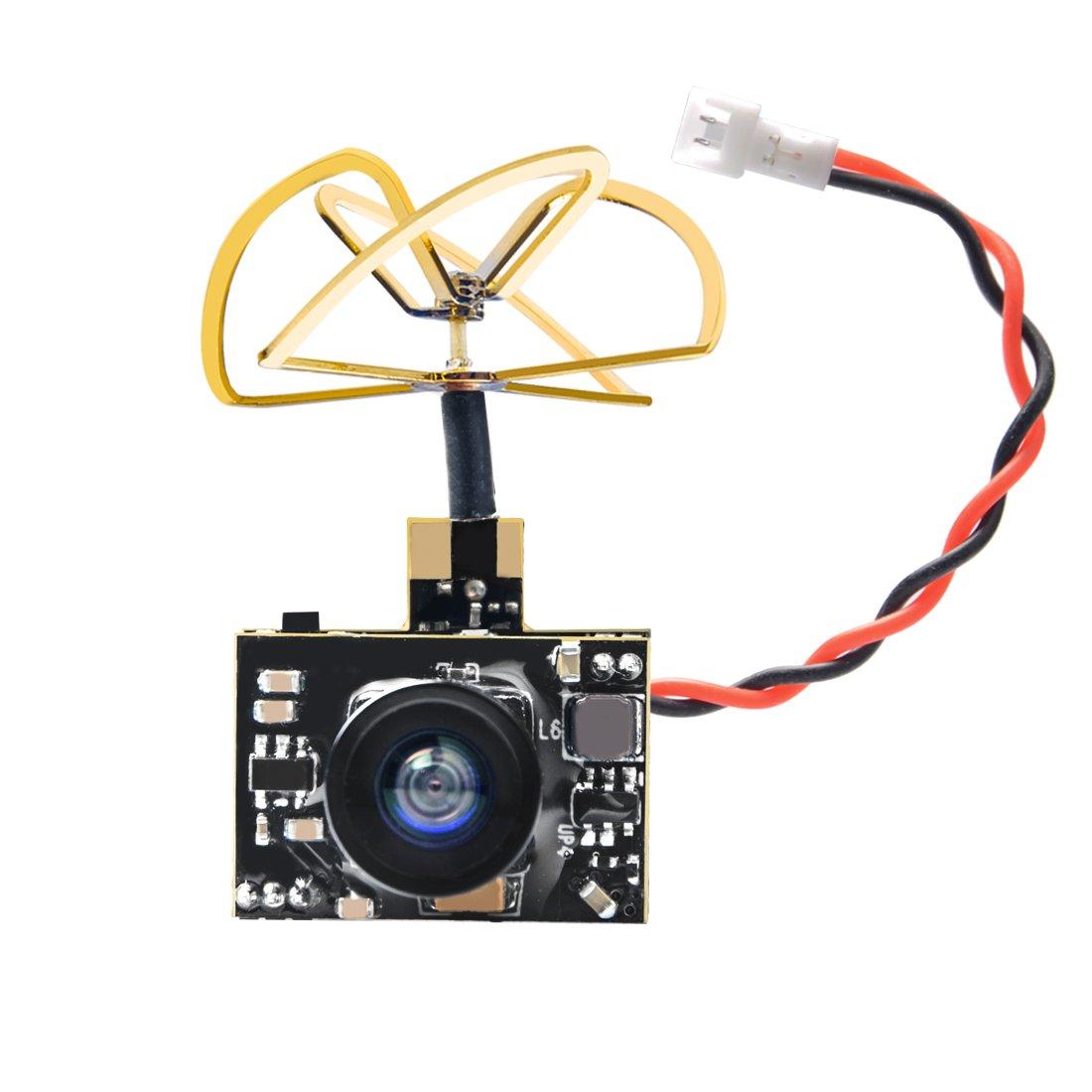 AKK A2 5.8Ghz 200mW FPV Transmitter Raceband 600TVL 1/4 Cmos Mini FPV Micro AIO Camera with Clover Antenna for FPV Drone