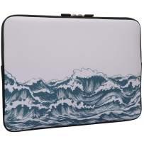Ocean Laptop Sleeve Bag 15/15.4/15.6 Inch, Water Repellent Neoprene Light Weight Computer Skin Bag, Notebook Carrying Case Cover Bags for 15/15.6/16 Inch MacBook Pro, MacBook Air, Sea Wave