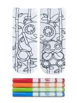 Crayola Kid's Color-In Socks - Includes 1 Pair Of Socks And 4 Fabric Markers by Living Royal (Happy Panda)