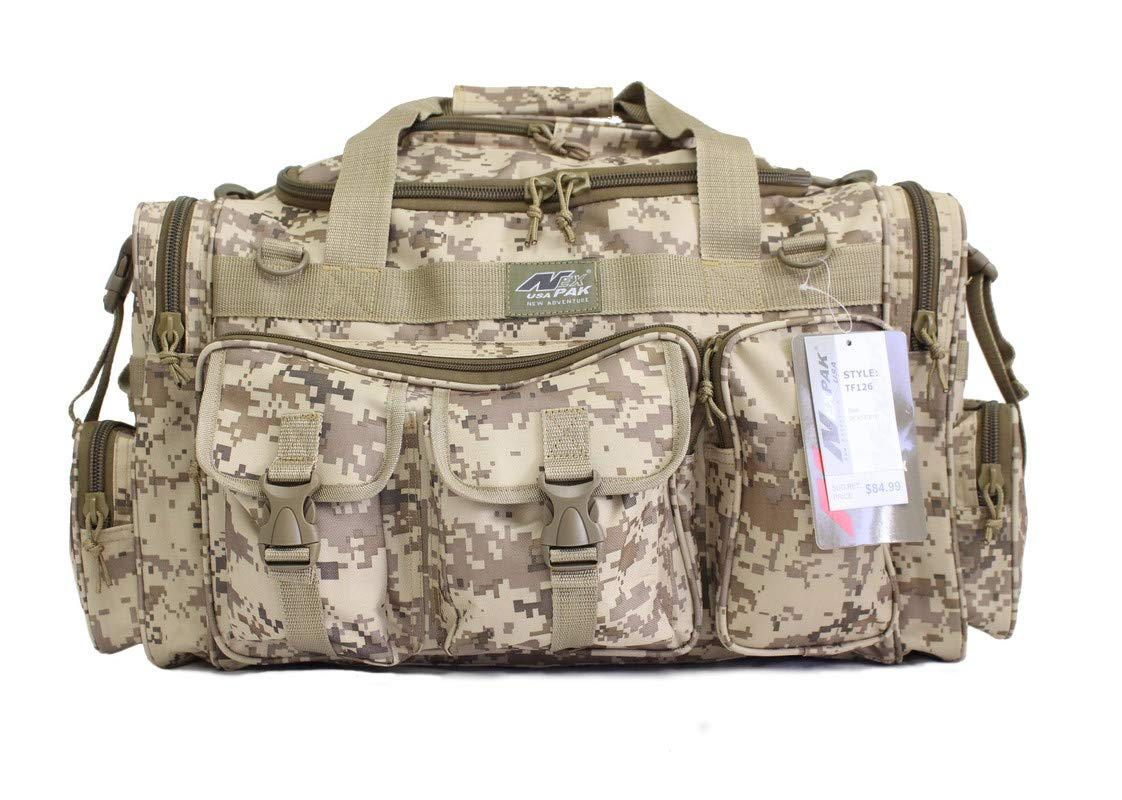 """Nexpak 26"""" Tactical Duffle Millitary Molle Gear Range Bag with Shoulder Strap"""