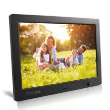 Polarpra Digital Picture Frames,10 Inch Photo Frame Digital HD LCD 1024x600 16:9 Widescreen Digital Frame 1080P Video Picture Slideshow,Music Around,Motion Sensor,SD&USB Port and Remote Control-Black
