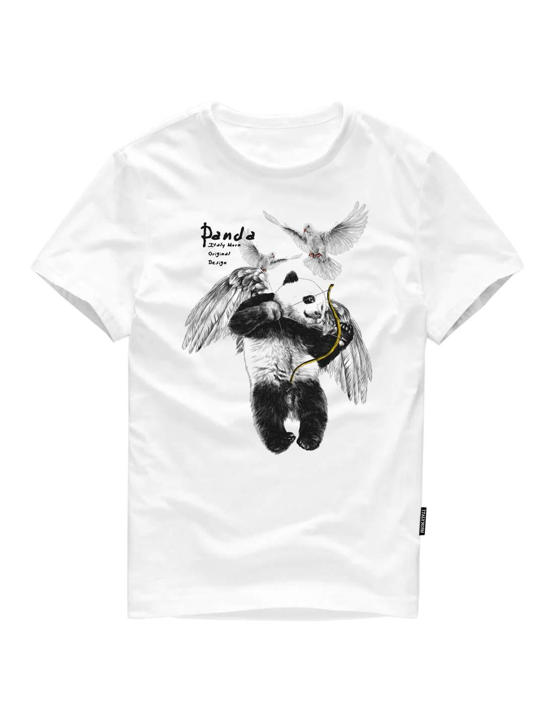 ITALYMORN Men Short Sleeve Graphic T-Shirts
