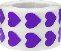 Purple Heart Stickers Valentine's Day Crafting Scrapbooking 0.50 Inch 1,000 Adhesive Stickers