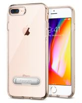 Spigen Crystal Hybrid iPhone 7 Plus/iPhone 8 Plus Case with Water-Mark Free Clear Case and Magnetic Metal Kickstand for Apple iPhone 7 Plus (2016) / iPhone 8 Plus (2017) - Champagne Gold