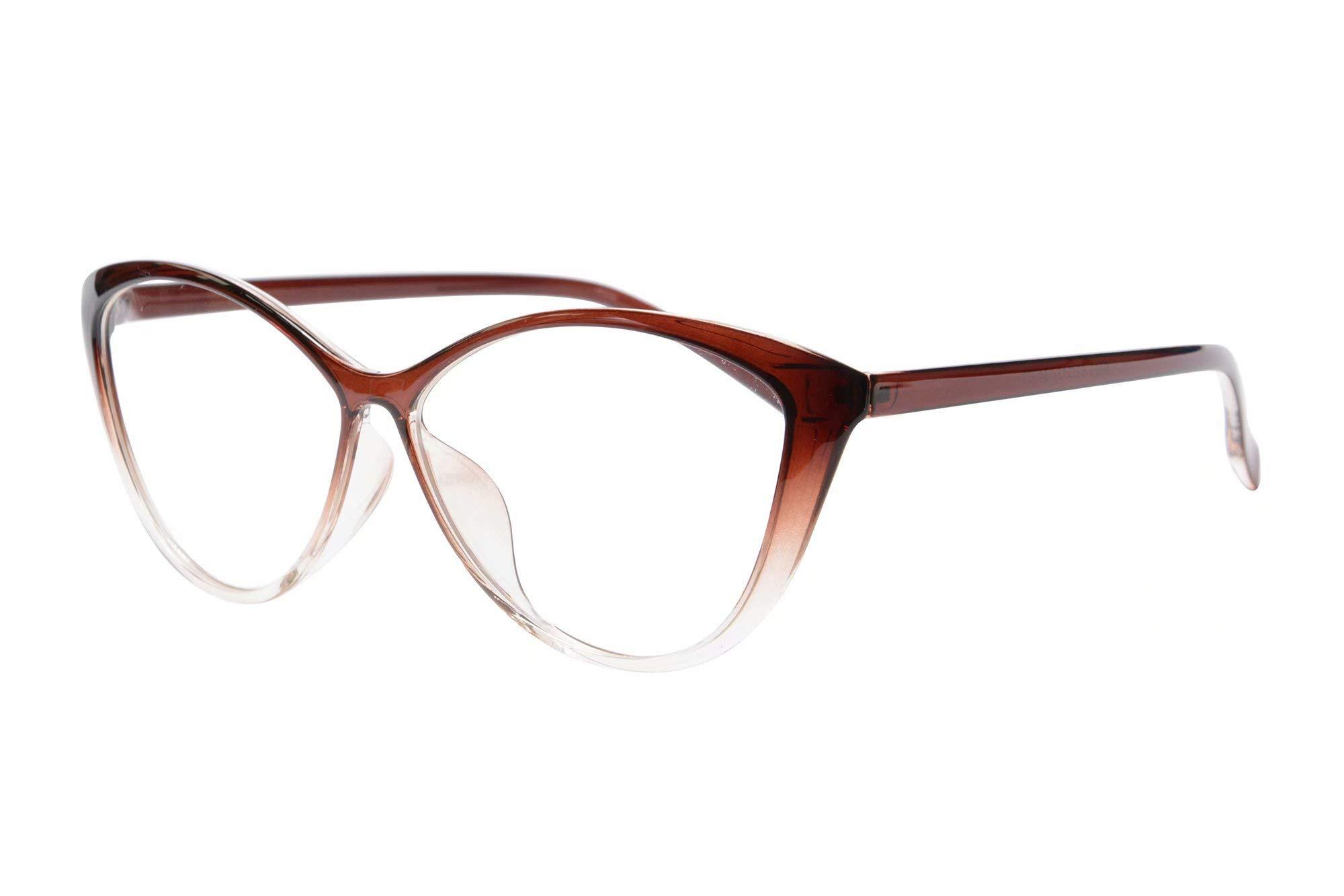 MEDOLONG Anti Blue Ray Computer Reading Glasses TR90 Cateye Women's Frame Blue Light Light Spectacles-RG5865R
