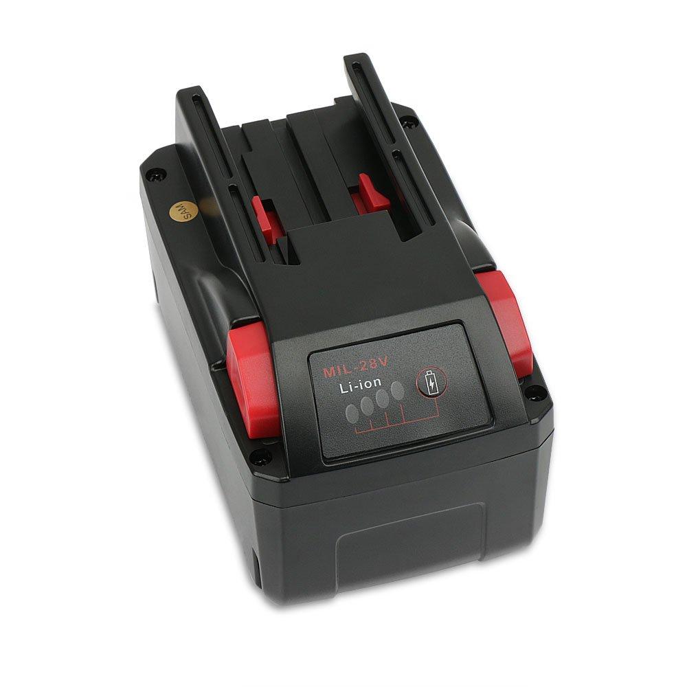 POWERAXIS 28V 3.0Ah Lithium ion Battery for Milwaukee 48-11-2830 M28 V28 B M28BX
