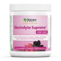 Jigsaw Health - Electrolyte Supreme Powder Drink Mix - Mixed Berry Flavor - Broad Spectrum of Electrolytes + Trace Minerals - 60 Servings per Jar