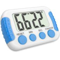 Classroom or Meeting Timers for Kids and Teacher Digital Kitchen Timer, Count-Up & Count Down for Cooking Baking Sports Games Office Study, White