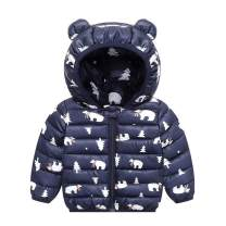 Ankecity Winter Coats for Kids with Hoods (Padded) Light Puffer Jacket for Baby Boys Girls, Infants, Toddlers