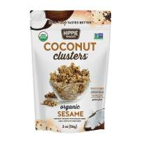 Hippie Snacks Coconut Clusters, Sesame, 2oz (Pack of 6)