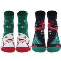 Christmas Socks, RTZAT Fun Cartoon Novelty Holiday Gift Dress Socks for Youth&Adults, 1/2 Pairs