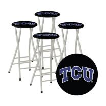 Best of Times Collegiate Bar Stools, TCU, Set of 4