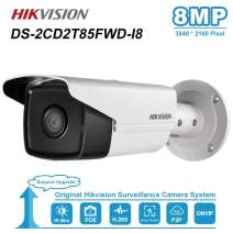 Hikvision 8MP IP PoE Outdoor Bullet Camera DS-2CD2T85FWD-I8 4mm 4K Onvif IP67 Waterproof 262ft(80M) IR Range PoE Security Camera with SD Card Slot 8 Megapixel Network Day/Night Video Surveillance Came