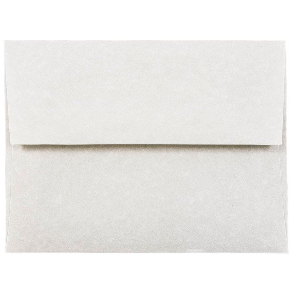 JAM PAPER A2 Parchment Invitation Envelopes - 4 3/8 x 5 3/4 - Pewter Gray Recycled - 50/Pack