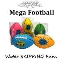Wave Runner Wholesale Water Toys Footballs Mini Mega Football Soft Foam Perfect for Pool and Beach. Great for Toy, Kids and Games Pink Orange Green Yellow Bulk Price Available Water Toy (4pack)