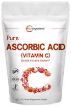 Pure Ascorbic Acid Powder (Water Soluble Vitamin C Powder), 1 KG (2.2 Pounds), Immune Vitamins for Immune System Booster and Strong Antioxidant for Making Serum or Adding to Smoothie and Drinks