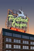 Portland, Oregon - Made in Oregon Sign (16x24 Giclee Gallery Print, Wall Decor Travel Poster)