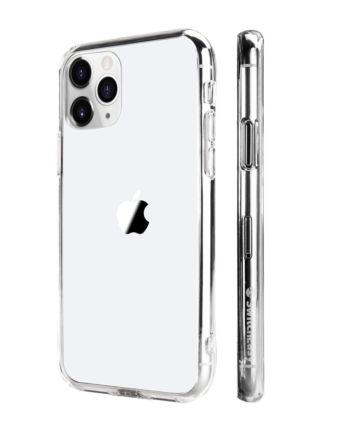 """iPhone 11 Pro Max Clear Case, SwitchEasy Crush Clear Case for 6.5 inch iPhone with Soft Bumper + Hard Back Cover, Military Drop Protection & Scratch Resistant (Ultra Clear, 2019 iPhone 6.5"""")"""