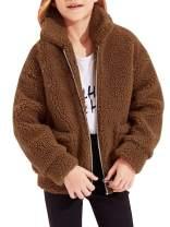 Girls Fuzzy Arctics Coats Fall Winter Warm Shearling Jackets Zip Up Cardigans 4-16 T