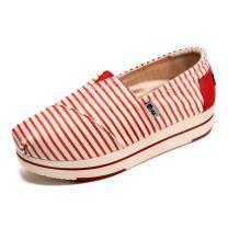 TIOSEBON Women's Slip-On Fashion Sneaker Elastic Platform Shoes with Stars
