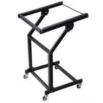 AW DJ Rack Mount Studio Mixer Stand Stage Cart w/Wheel Adjustable Music Equipment Party Show 9UX