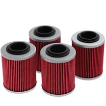 Oil Filter Replacement for Can-Am Outlander 330 400 450 500 570 650 800 850 1000 Replace# 420256188 711256188 KN152 HF152 (4Pcs)