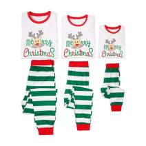 Family Christmas Pajamas Sets Santa Long Sleeve Letter Printed Sleepwear Nightwear Parent Child Family Matching Outfit