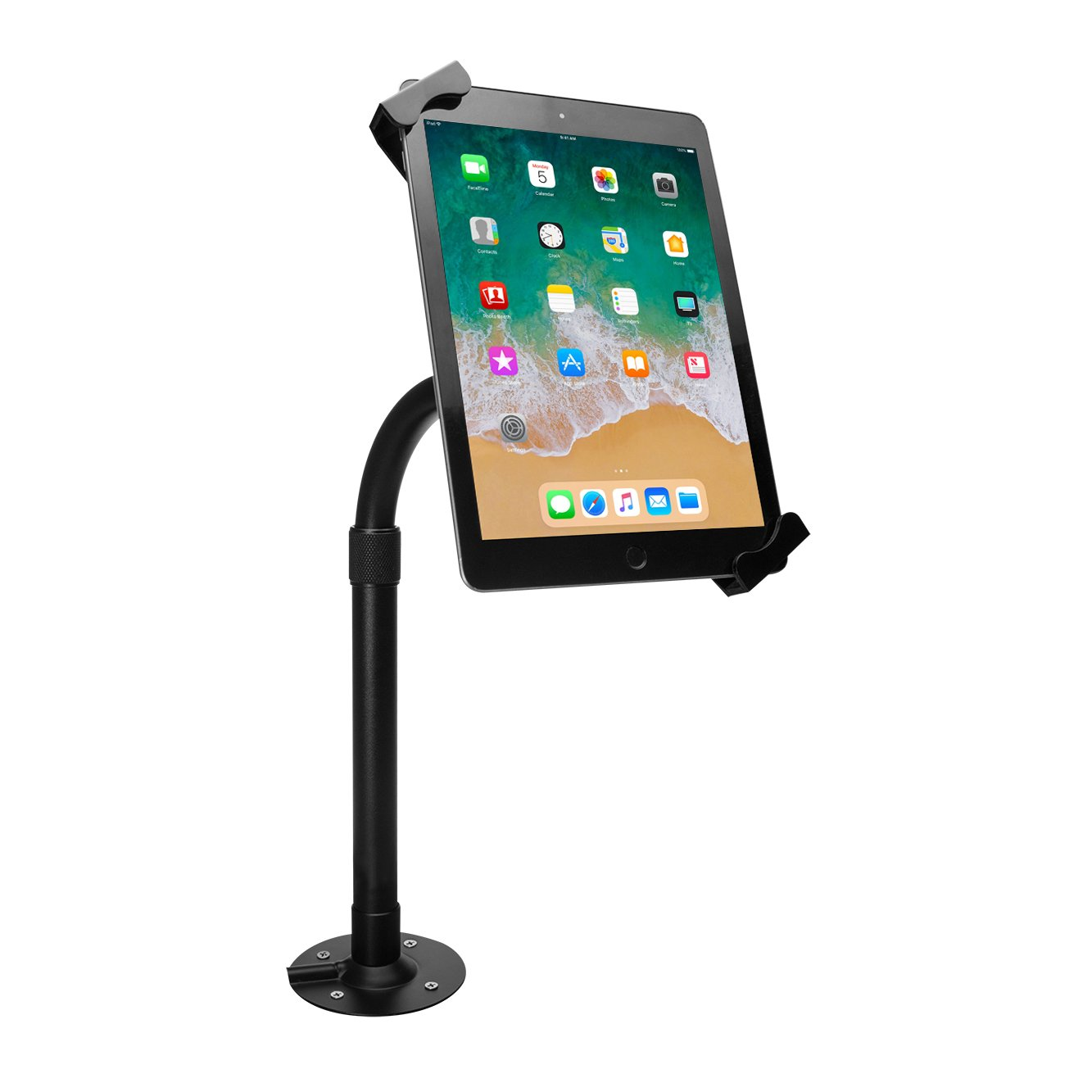 """Tablet Stand, CTA Digital Height-Adjustable Tabletop Security Elbow Mount for 7-14"""" Tablets, fits iPad 10.2-inch (7th Gen.), iPad Air 3, 12.9-inch iPad Pro, 11-inch iPad Pro, iPad Gen 6 & More"""