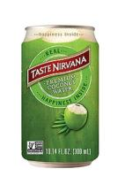 Taste Nirvana Real Coconut Water, Premium Coconut Water, 10.14 Ounce Cans (Pack of 12)