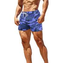 GYMAPE Men's Gym Sport Bodybuilding Workout Casual Shorts with Pockets 3 inch Inseam Raw Hem Terry Cotton