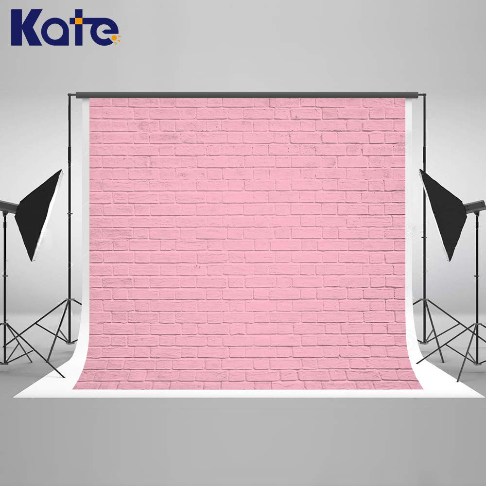 Kate 8x8ft Pink Brick Wall Photography Backdrops Portrait Photo Backgrounds Photo Studio Props