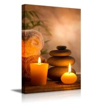 """wall26 - Spa Still Life with Aromatic Candles - Canvas Art Wall Art - 24""""x36"""""""