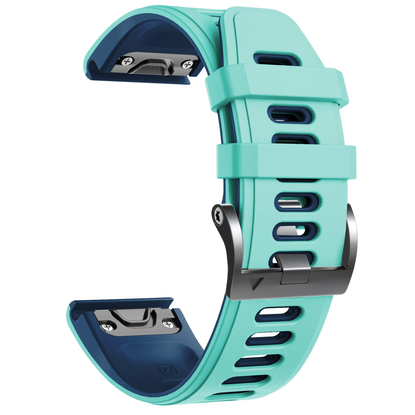 Notocity Compatible with Fenix 6 pro Watch Band for Fenix 6/Fenix 6 Pro/Fenix 5/Fenix 5 Plus/Forerunner 935/Forerunner 945/Approach S60/Quatix 5 (Teal)