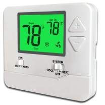 Non-Programmable Thermostat 1 Heat/1 Cool (Green LCD)