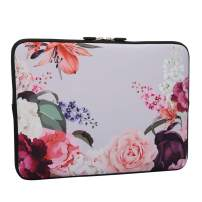 Lapac Rose Flower Laptop Sleeve Bag 13-13.3 Inch, Water Repellent Neoprene Light Weight Notebook Computer Skin Bag, Notebook Carrying Case Cover Bags for 13-13.3 inch MacBook Pro, MacBook Air