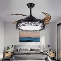 42 Inch Modern Ceiling Fan Chandelier Indoor Ceiling Fan Light LED Light Energy Saving Mute 3 Colors 3 Speed with Remote Control Suitable for Bedroom, Living Room, Dining Room