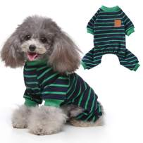 EMUST Small Dog Clothes, Lightweight Dog Pajamas, Stretchable Dog Clothes for Small Dogs Girl Boy, S