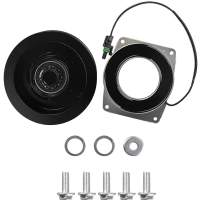 AC Compressor Clutch Pulley Coil 1 Wire 2 Grooves 12V Air Conditioning Repair Kit