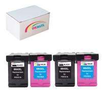 INKMATE Re-Manufactured Ink Cartridge Replacement for 664XL F6V30A / F6V31A DeskJet Ink Advantage 1115 DeskJet Ink Advantage 2136 DeskJet Ink Advantage 3636 2Black 2Tri-Color 4 Pack
