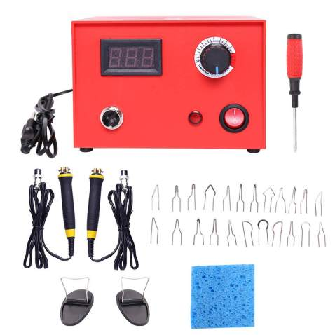 Red Dual Pen 110V 50W Pyrography Machine 50 Digital Temperature Adjustment and Electric Wood Burning Detailer for Wood//Leather//Gourd Wood Burning Machine Kit 20 Tips