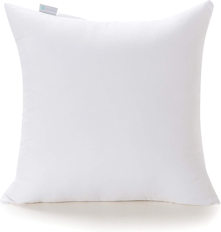 "Acanva 20 x 20 Premium Hypoallergenic Polyester Stuffer Square Form Sham Throw Pillow Inserts, 20""-1P"