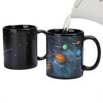 Heat Changing Solar System Magic Coffee Mug Heat Sensitive Porcelain Tea Cup Xmas Funny Gifts(10 OZ) - by Antspirit