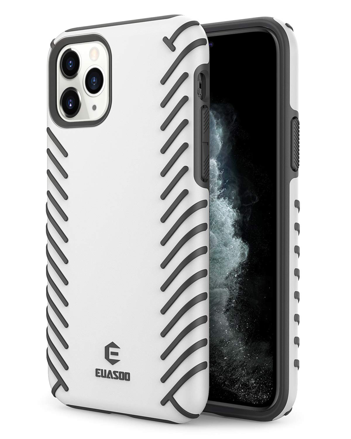 EUASOO iPhone 11 Pro Case,PC + Soft TPU Cover Double Protection, High Effective Heat Dissipation,Support Wireless Charging,Anti-Scratch Resistant Cover for iPhone 11 Pro,White