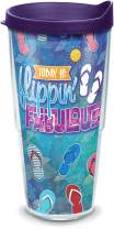 Tervis Flippin Fabulous Insulated Tumbler with Wrap and Lid, 24 oz - Tritan, Clear
