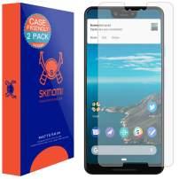 Skinomi Matte Screen Protector Compatible with Google Pixel 3 XL (2-Pack)(Case Compatible) Anti-Glare Matte Skin TPU Anti-Bubble Film