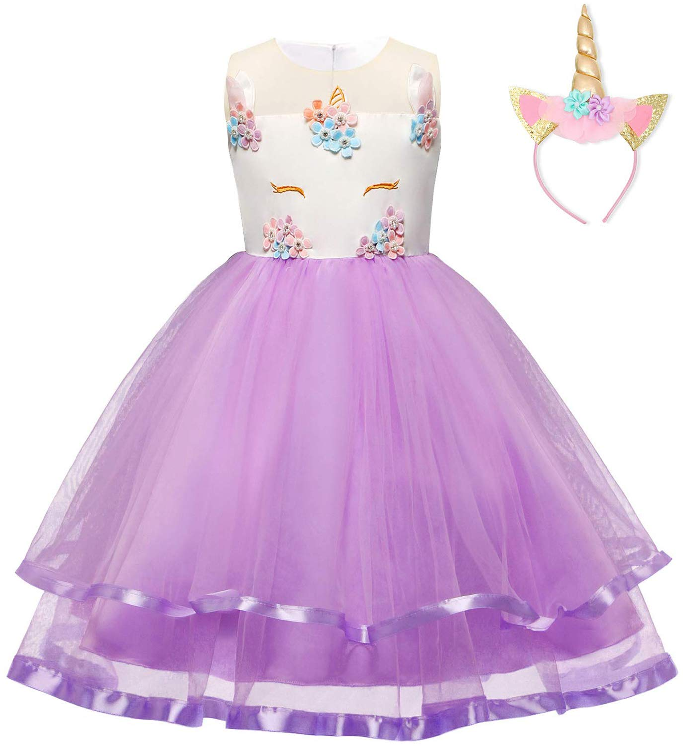 Baby Girl Party Princess Dress Ruffles Lace Wedding Formal Gowns TZ02