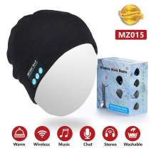Sunnywoo Bluetooth Hats for Men, Wireless Bluetooth Beanie Musical hat with Stereo Speaker and MIC 4 Hours Working Time for Outdoor Sports,Built-in Mic