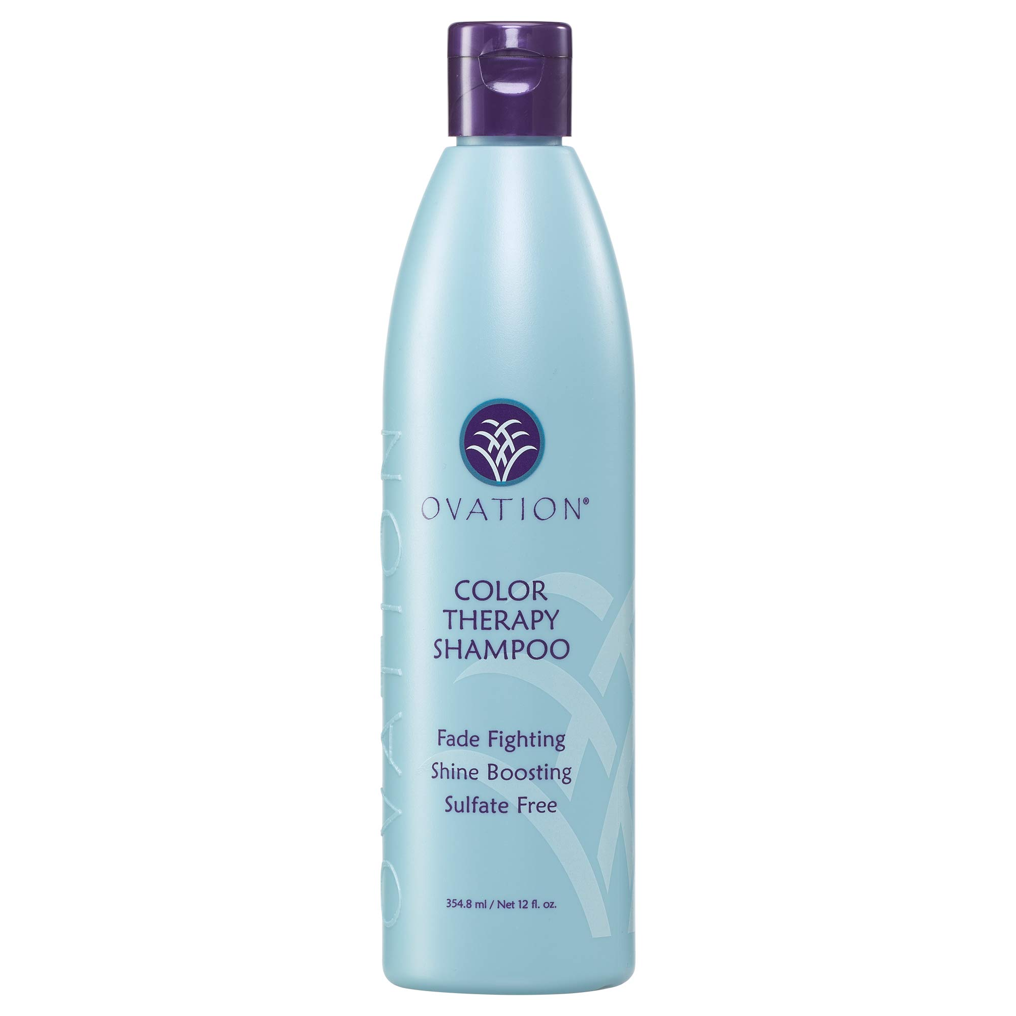 Ovation Color Therapy Shampoo - Sulfate Free Shampoo with Natural Ingredients including Keratin, Argon Oil to Gently Cleanse Hair while Protecting Color and Shine - Made in the USA